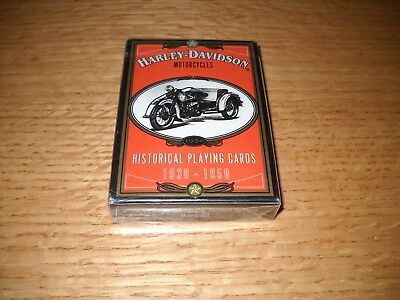 Harley-Davidson Motorcycles Historical Playing Cards - 1930 - 1950 - Brand New