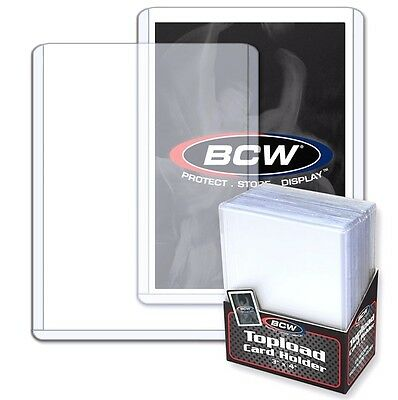 4000 NEUF BCW 3x4 rigide CARTE PLASTIQUE toploaders supports SPORTS BASEBALL 4
