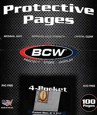 25 NEUF 4 Pocket pages plus 100 3x5 CARTE TOPLOADERS