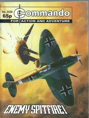 Enemy Spitfire,commando War Stories In Pictures,no.3220,war Comic,1999