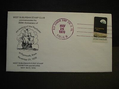 Sailing Ship MAYFLOWER Naval Cover 1970 Cachet PLYMOUTH, MICH