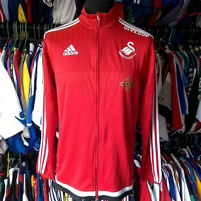 Swansea City 2014 Track Top Football Shirt Adidas Jersey Size Adult L