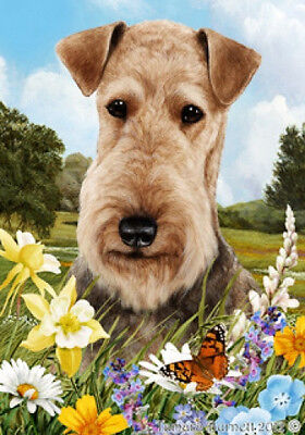 Large Indoor/Outdoor Summer Flag - Airedale Terrier 18027