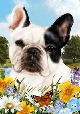 Large Indoor/Outdoor Summer Flag - Pied French Bulldog 18235