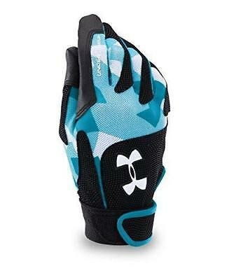 Under Armour Women's Radar III Softball Batting Glove gloves Black Blue Size S