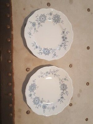 Set of 2 Christina Porcelain Seltmann Weiden BAVARIAN BLUE Bread & Butter Dishes