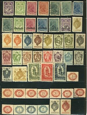 Vintage Big Lot Of Liechtenstein Mint And Used Stamps