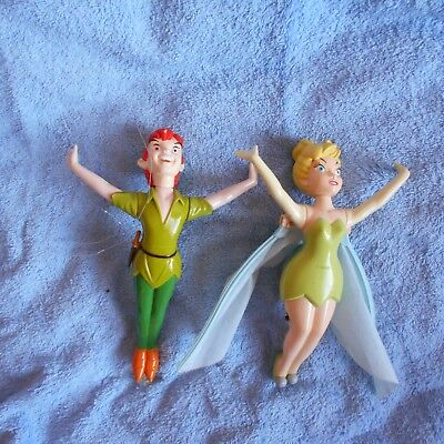Flying Peter Pan Figures Tinkerbell Fairy Top Set Toy Film Models Disney Moving