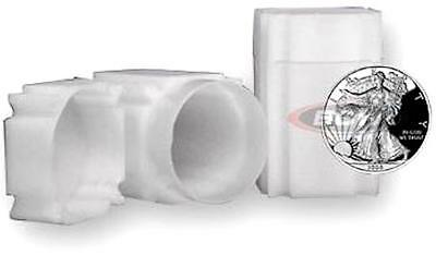 9 American Silver Eagle Crown Coin Tube Safe Plastic Square Double Locking Lid