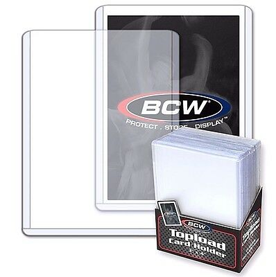 100 NEUF BCW MARQUE 3 x 4 rigide Topload Support Carte TOPLOADERS