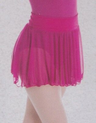 NEW Ballet skirt full circle Body wrappers fushia M/L circle pull up chiffon