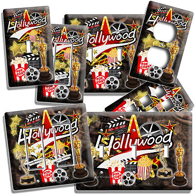 Hollywood Tv Room Home Movie Stars Theater Light Switch Outlet Wall Plates Decor