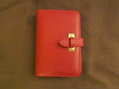 Coach Leather Address Book, Address paper Book And Pen, billfold inner flap, EUC