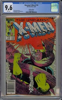 Uncanny X-Men #176 CGC 9.6 NM+ Wp Classic Cyclops Cover Canadian Price Variant