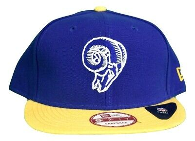 on sale 448d2 1a4ee New Era 9Fifty Mens NFL Los Angeles Rams Snapback Hat Cap New