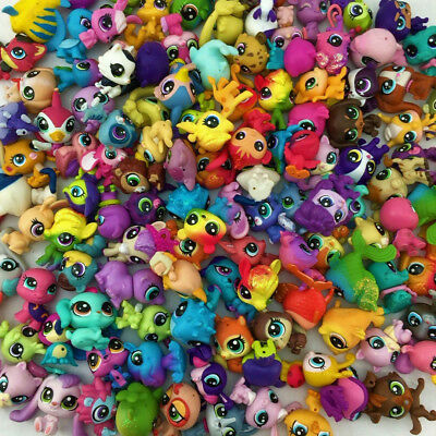 random Lot 10pcs Littlest Pet Shop animals cat dog fox duck mini figure doll toy