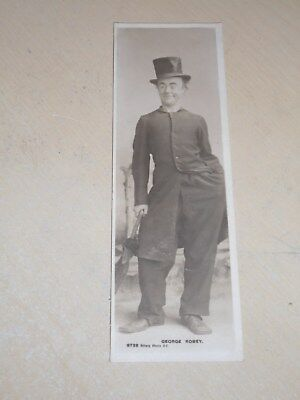 EARLY 1900s BOOKMARK POSTCARD - EDWARDIAN ACTOR - GEORGE ROBEY - VGC