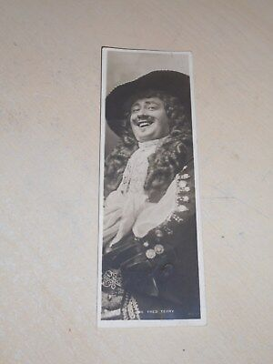 EARLY 1900s BOOKMARK POSTCARD - EDWARDIAN ACTOR - MR FRED TERRY - VGC