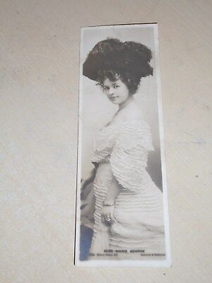 EARLY 1900s BOOKMARK POSTCARD - EDWARDIAN ACTRESS - MISS MARIE GEORGE - VGC