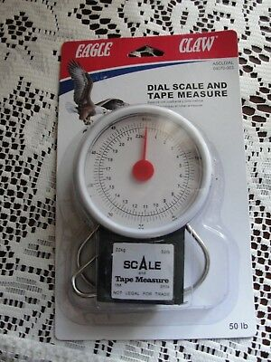 NEW Eagle Claw 04070-003 Scale Tape Measure Fishing 50 lb. deluxe easy