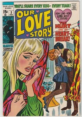Our Love Story 3 strict VF+ Gene Colan Don Heck John Buscema Frank Giacoia wow!