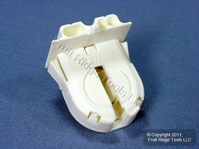 Leviton Fluorescent Lamp Holder Light Socket T8 Bi-Pin G13 Base Shunted 23652-WP