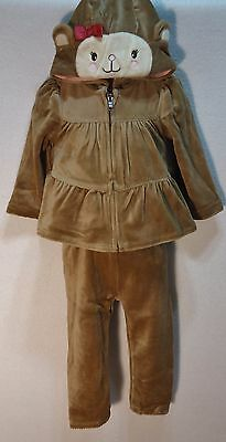 Gymboree Girls 12 18 Months Outfit Top Pants Hoodie Mischievous Monkey NWT