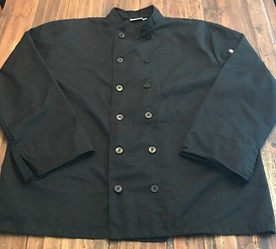 Chef Works 2XL Black Chef Coat Polyester/ Cotton