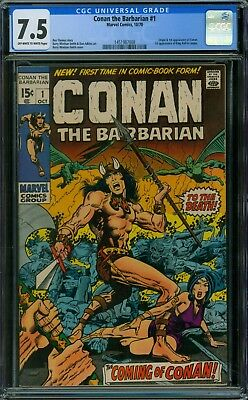 Conan the Barbarian 1 CGC 7.5 - OW/W Pages