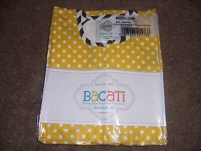 Bacati wearable blanket sleepsack new  yellow dots / stripes
