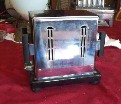 Antique Toaster, Electric, Empire, 2 Slice Manual Toaster, With Wood Knobs