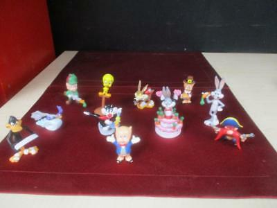 Vintage Lot of 11 Looney Tunes PVC Cake Toppers / Figures