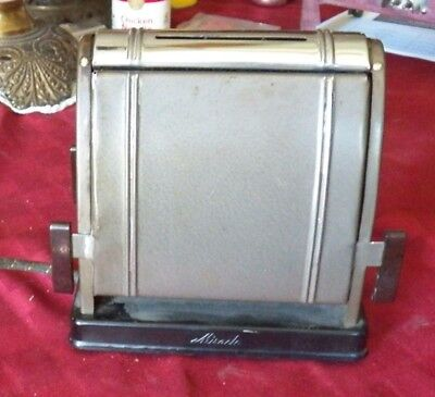 Antique Toaster, Electric, Miracle, 2 Slice Manual Toaster, With Plastic Knobs