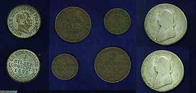 Germany  Prussia  1801-A  1/3 Thaler Silver Coin,  1856-A 3 Pfennig, & 1861-A ..