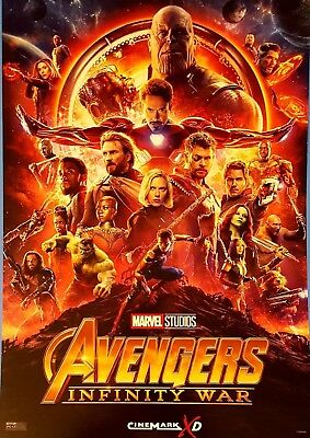 Marvel AVENGERS INFINITY WAR 2018 Cinemark XD Exclusive Promo Mini Movie Poster