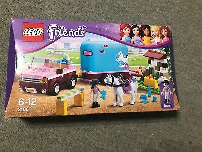 Lego Friends Emma Horse Trailer 3186 Complete Box And