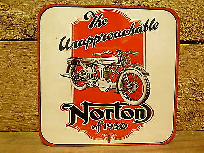 Drink Coaster Set Of 4 - 1930 Norton Motorcycles