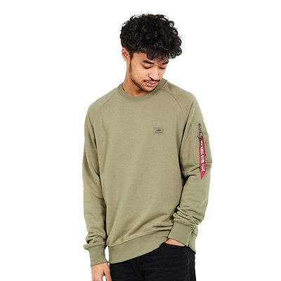 Alpha Industries - X-Fit Sweater Olive Pullover Rundhals