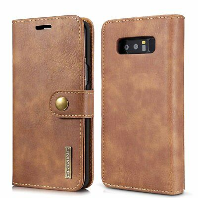 Samsung Galaxy Note 8/ S8/S9 Genuine Leather Retro Wallet Flip Case Card Cover