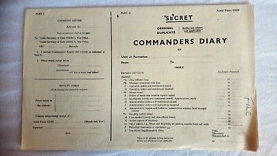 Commanders Diary & Commanders Diary Narrative-Secret War Office Forms C2118/2119