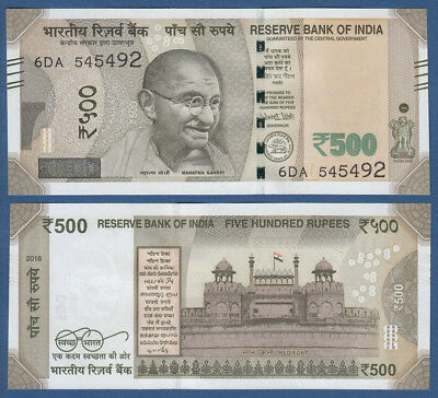 INDIEN / INDIA 500 Rupees 2016 UNC  P.NEW
