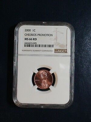 2000 CHEERIOS PROMOTION Lincoln Memorial Cent NGC MS66 RED HI GRADE 1C Coin!