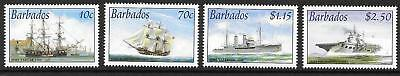 Barbados Sg1226/9 2003 Royal Navy Connections Mnh