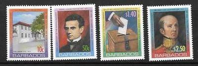Barbados Sg1302/5 2006 Anniv Of Enfranchisement Of Free Coloured Barbadians Mnh