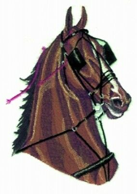 Large Embroidered Zippered Tote - Harness Horse BT2714