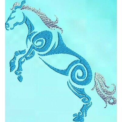 Large Embroidered Zippered Tote - Tribal Horse S1-04