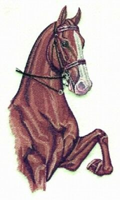 Large Embroidered Zippered Tote - Three Gaited Horse BT2342