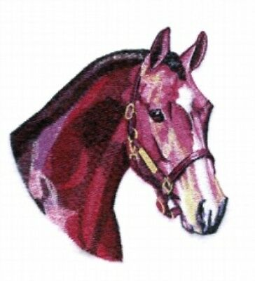 Large Embroidered Zippered Tote - Hunter Horse BT3999