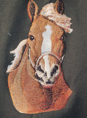 Large Embroidered Zippered Tote - Draft Horse BT3728