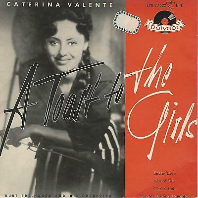 """Caterina Valente"""" A Toast To The Girls  """" 7"""" Ep Germany Press"""